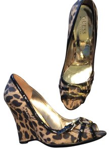 Guess By Marciano Leopard Wedges