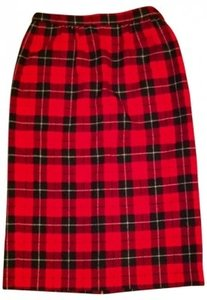 Pendleton Skirt red tartan