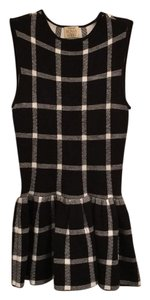 Torn by Ronny Kobo Top Black and white plaid