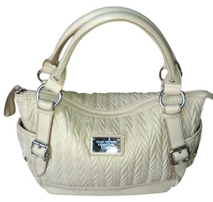 Relic Leather Chrome Satchel in Cream