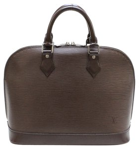 Louis Vuitton Alma Pm Mm Gm Satchel in Brown