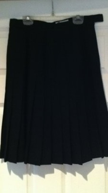 Other Vintage 4 Pleated Work Basic Classic Light Wool Vintage 4 Wool Office 27 Small Sm S Jh Collectibles Wool 100% Wool Skirt black
