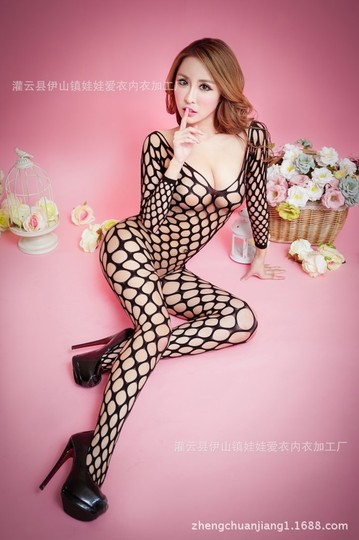 Other Sexy Black Crotchless Bodysuit Fishnet Lingerie Body Stocking