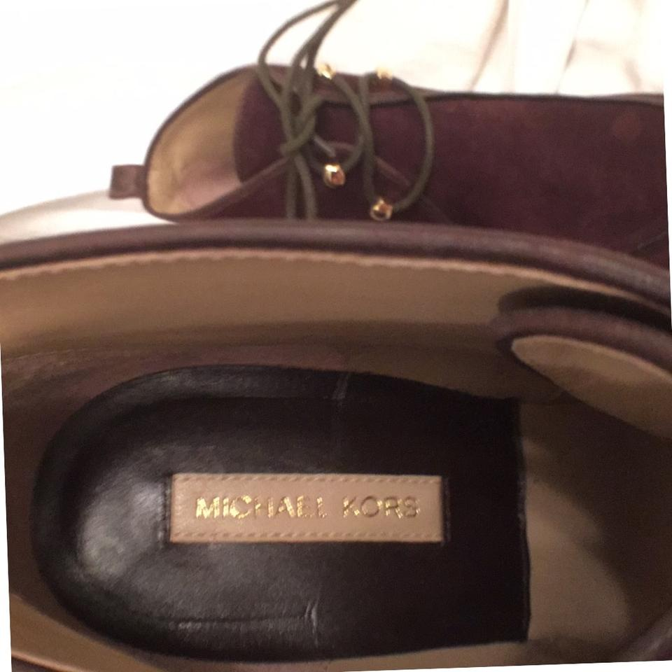 b16214aa75d Michael Kors Brown New Beth Suede W Leather Trim Lace-ups Ankle Wedge  Boots Booties Size US 7 Regular (M