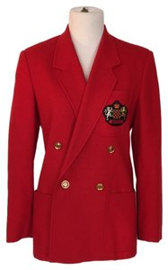 Gucci Crest Wool Red Blazer