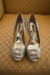 Badgley Mischka Special Occasion Pumps Heels Peep Toe Platform Wedding Shoes