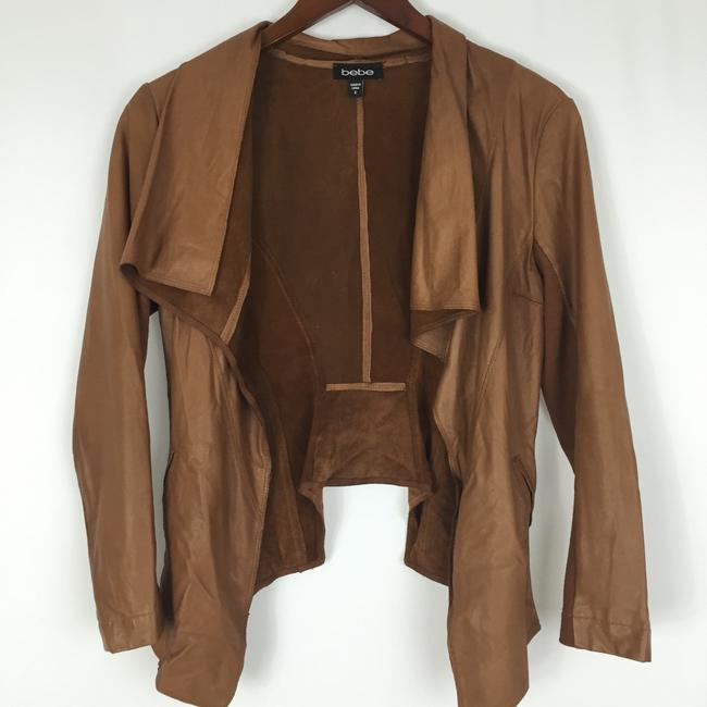 bebe Tan Leather Jacket