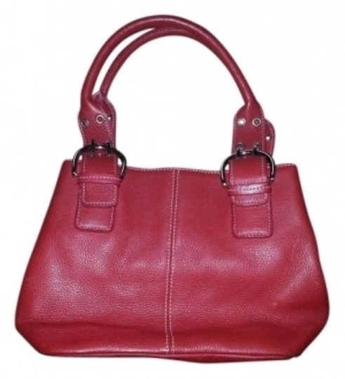Preload https://item5.tradesy.com/images/tignanello-lovely-little-red-leather-satchel-14844-0-0.jpg?width=440&height=440