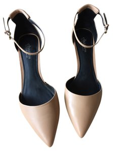 Charles David Leather Nude Pumps