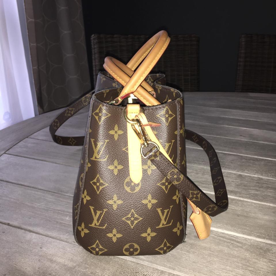 Louis Vuitton Montaigne Bb Mini Micro Nano Shoulder Tote Handbag Monogram  M41055 Brown Canvas Cross Body Bag - Tradesy 2a061eb3096a1