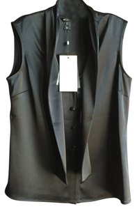 St. John Satin Shell Top black