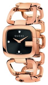 Gucci Gucci Women's Watch - Pink Gold PVD Bracelet - 3 Diamonds