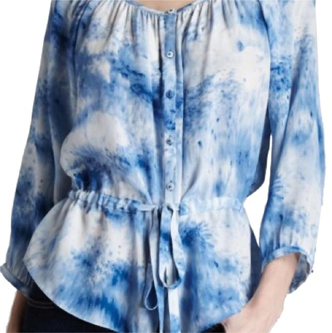 Preload https://item4.tradesy.com/images/rebecca-taylor-blue-and-white-blouse-size-2-xs-14844403-0-4.jpg?width=400&height=650