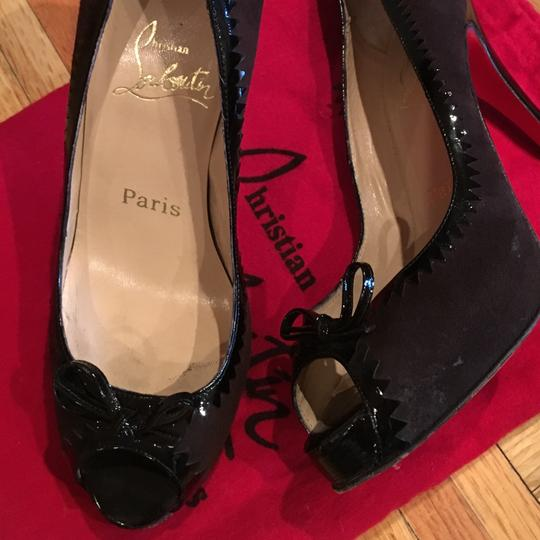 Christian Louboutin Brown and Black Pumps
