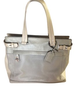 Reed Krakoff Leather Feet Tote in Cream and Gray