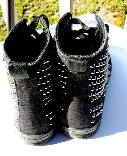 Dr. Martens Airwaire Spike Festive Rare Size 6 Canvas Shorestud Studded Black Boots