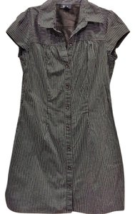 Byer California short dress brown and white stripe on Tradesy