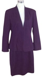Escada Escada Piacenza Angora Rabbit Wool Skirt Suit 42 10 12 Purple