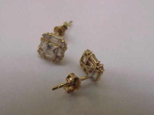 Other Unisex Estate 14kt Yellow Gold Earrings 2.00cttw Cubic Zirconia