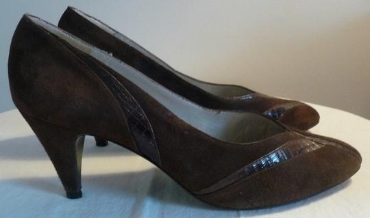 Other Suede Snakeskin Size 8 Vintage Spain Brown Pumps