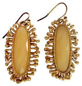 Glass and Gold-plated Earrings