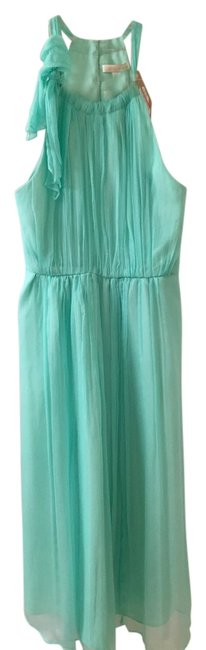 Thread Lined Tea Length Sleeveless Silk Side Zipper Dress