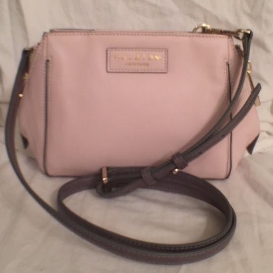 Preload https://item4.tradesy.com/images/halston-new-barely-pink-gray-leather-cross-body-bag-14845318-0-0.jpg?width=440&height=440