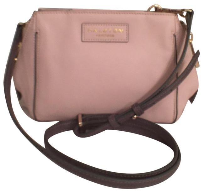 Item - New Barely Pink Gray Leather Cross Body Bag