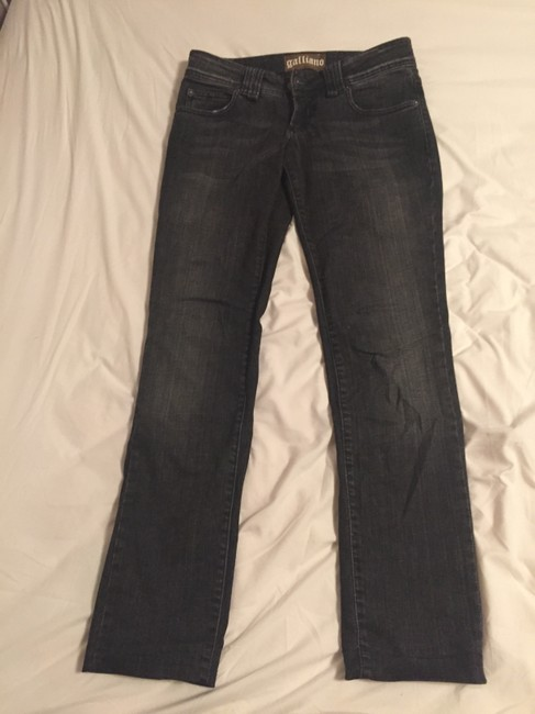 John Galliano Relaxed Fit Jeans-Dark Rinse