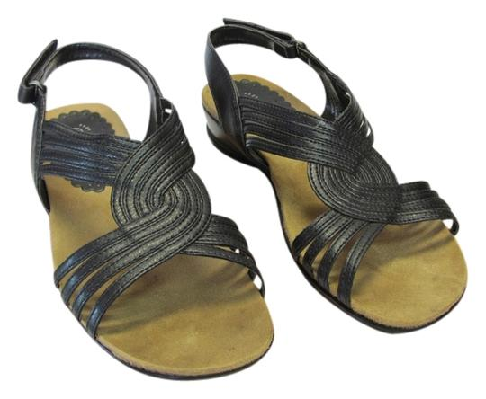 Preload https://item2.tradesy.com/images/wearever-black-leather-m-very-good-condition-sandals-size-us-75-regular-m-b-14845381-0-2.jpg?width=440&height=440