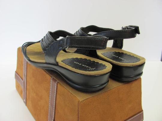 Wear.Ever. Leather Size 7.50 M Very Good Condition Black Sandals