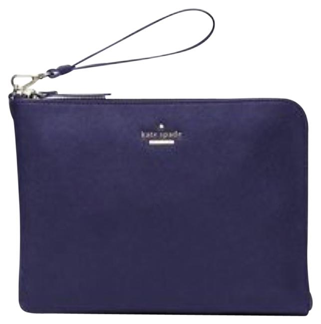 Item - Quentin Navy Leather Wristlet