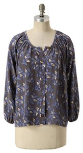 Anthropologie Silk Floral Longsleeve Bayla Jane Top
