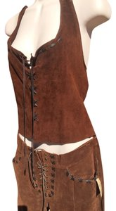 Maxima Chocolate Brown Halter Top