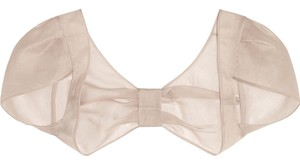 Valentino New! Bow-embellished silk-organza shrug