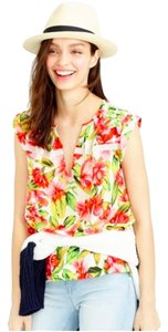J.Crew Collection Silk Top Hibiscus