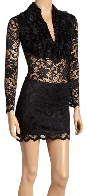 Preload https://img-static.tradesy.com/item/14845690/bernardo-sexy-lace-black-mini-cocktail-dress-size-2-xs-0-1-650-650.jpg