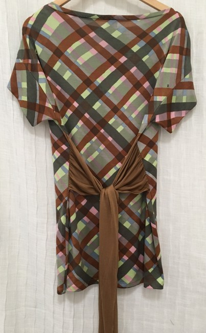 M Missoni short dress Multi Silk Boatneck Belt on Tradesy