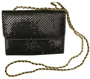 Whiting & Davis Black/Gold Clutch