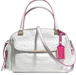 Coach Satchel in White Pink