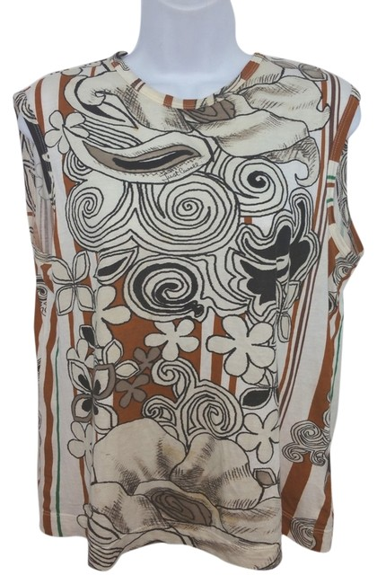 Preload https://item1.tradesy.com/images/just-cavalli-sleeveless-printed-l-blouse-size-12-l-14846140-0-1.jpg?width=400&height=650
