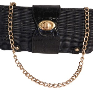 Poppie Jones Black Clutch