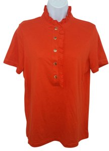 Tory Burch Orange Cotton Top