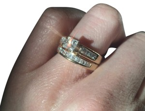 Other Princess cut Diamond ring and band.