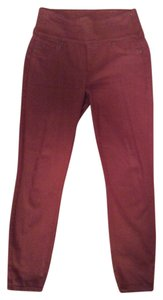 Spanx Jag Burnt Red Non-smoking Home Skinny Jeans-Dark Rinse