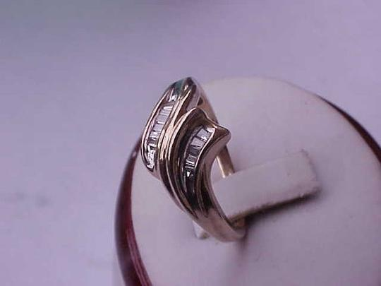 Other Estate Vintage 10k Yellow Gold .50cttw Diamond Fashion ring, size 8 1/2