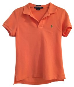 Polo Ralph Lauren Skinny Preppy Button Down Shirt Orange