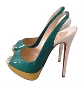 Christian Louboutin Color block green/yellow Pumps