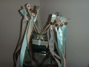 Tiffany Blue Ivory Champagne 17 Wands Wedding Favors