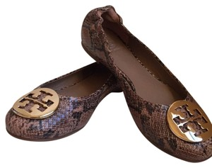 Tory Burch Chocolate brown/ black Flats